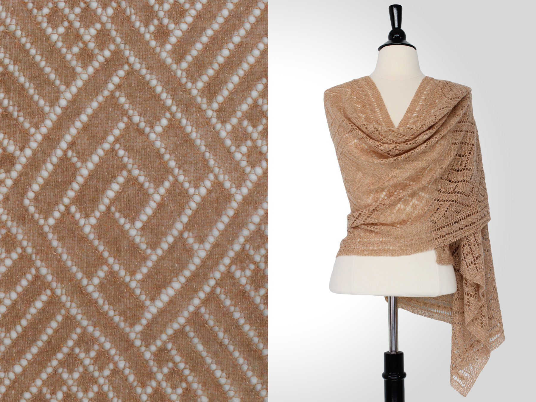 Rectangular Shawl Knitting Pattern : SteveRousseauDesigns Calvin