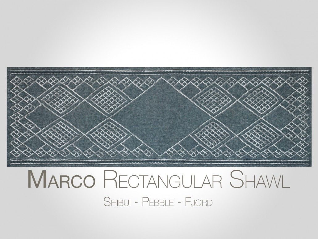 Rectangular Shawl Knitting Pattern : SteveRousseauDesigns Marco